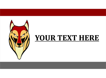 front view of the staring predator, combine with text  Suitable for mascot, symbol, icon  etc  Vector