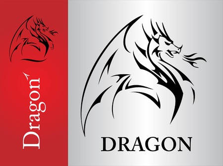 Dragon, Dragon sketch, spreading its wing. Dragon with the flame from the mouth. Shooter Dragon. Dragon with Fire. Attacking Dragon. symbolizing power, protection, dignity, wisdom, etc.