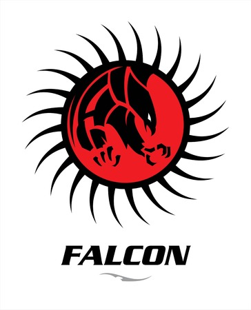 domination: attacking black falcon with sharp big claw on the red circle tribal.