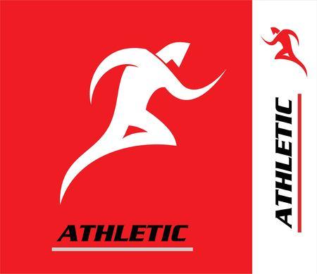 endurance run: Runner. Marathon. Athletic icon. for runner. Athletic mascot.