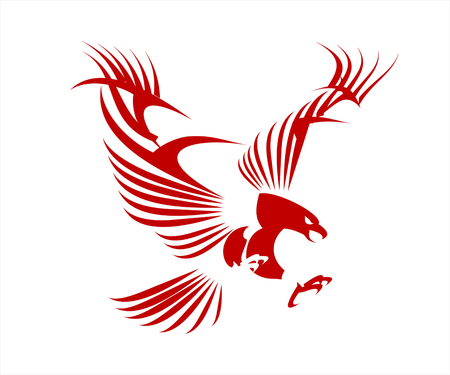 prophetic: Stylized Great Red Eagle. Eagle spread out its wings.