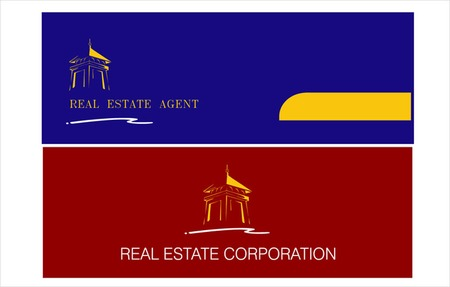 housing estate: icon & templates for corporate identity . can applied in real estate, hotel, residential, housing, etc. Illustration