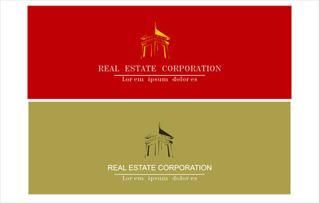 housing estate: icon & templates for corporate identity, stationery, name card. can applied in real estate, hotel, residential, housing. etc