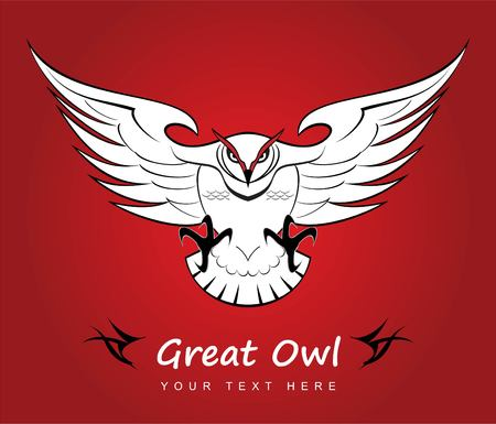 Owl, great owl vector illustrator.