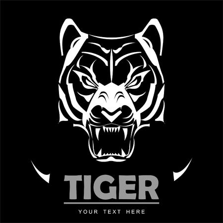 Great white tiger icon design template