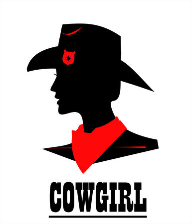 Cow girl icon design 일러스트