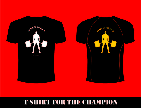 T-shirt for champion design template. Stock Vector - 97416543