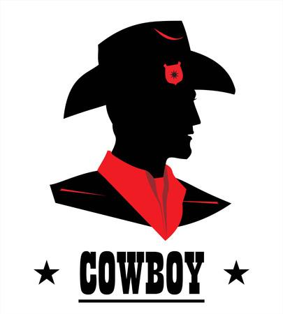 Cowboy Head Profile.