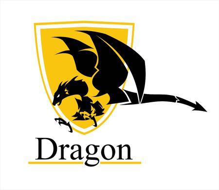 dragon, dragon on shield