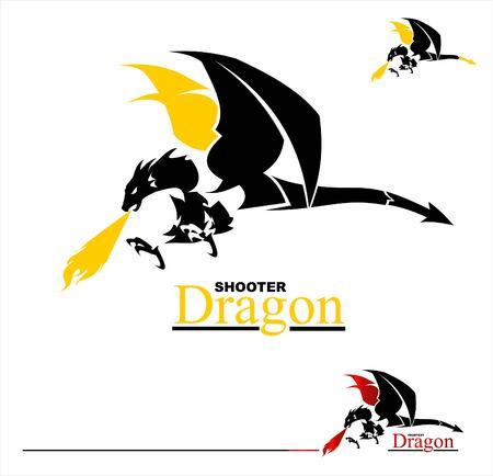dragon, shooter dragon. Vettoriali