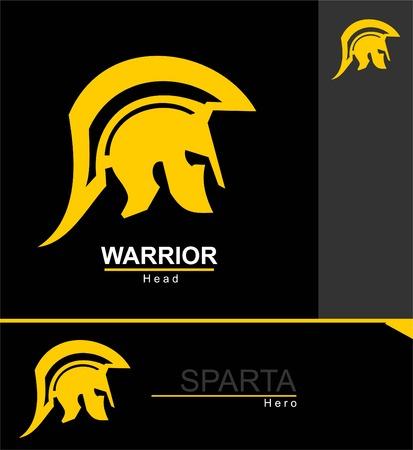 sparta warrior head. Stock Vector - 97482111