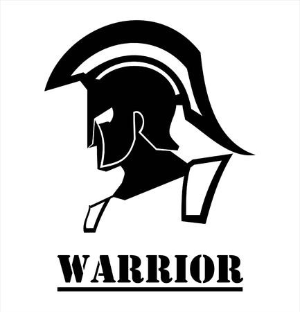 Sparta warrior, Trojan and sword  icon design