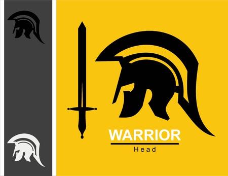 Sword and centurion icon. Illustration