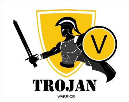 Sparta warrior icon design