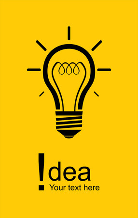 Gelbe Birne Idee Symbol Design Standard-Bild - 96204344