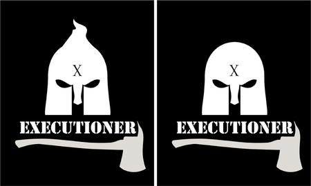 Executioner mask and axe