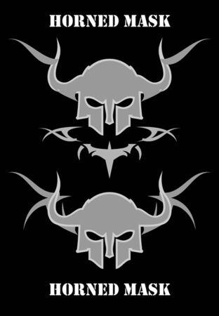 Horned Skull Mask Stock Vector - 97529555