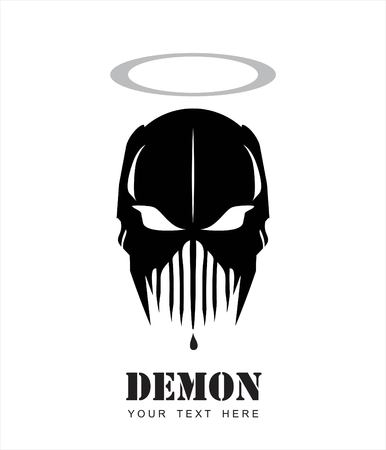 Villain, holy demon vector illustration