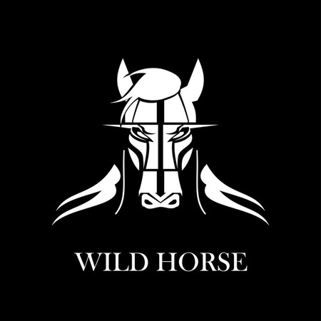White horse head icon design