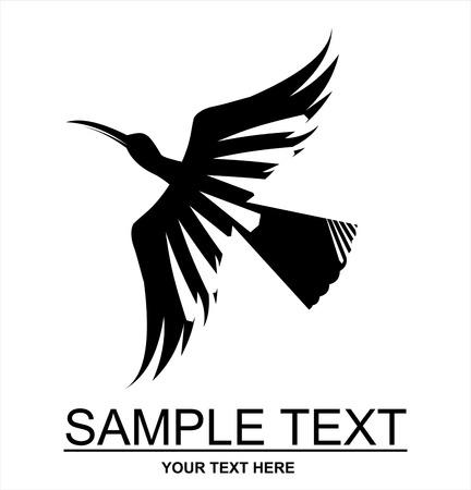 Flying black bird icon design