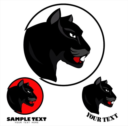 Panther Head icon design Vectores