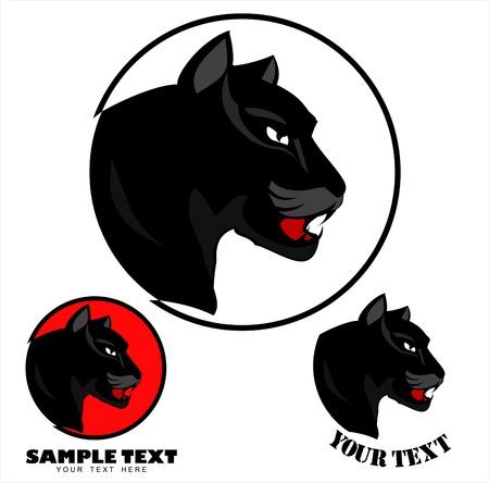 Panther Head icon design Illustration