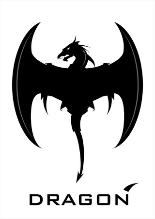 Black Dragon with the crescent wing and whip tail