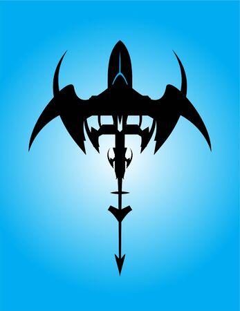 Winged shape tribal artwork, Space shuttle launch. Winged shape artwork. Flying spaceship. Tribal art. UFO. space shuttle ship,  air plane. futuristic shape.