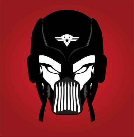 Warrior Head. Suitable for team identity, insignia, emblem, mascot, sport team icon, apparel, biker community, etc .