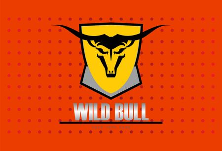 Wild bull. bull on shield.