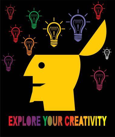 Explore your creativity, creatuvity. Illustration