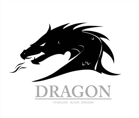 Dragon head vector