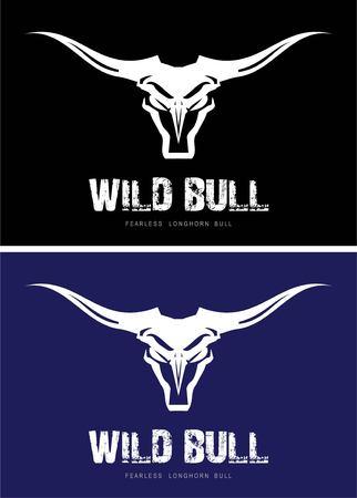 Bull Head on black backgroun