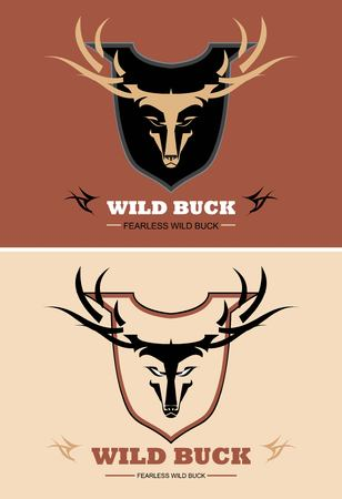 Wild buck in ruby red and brown.