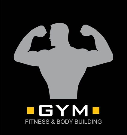 gym, blackboard gym, fitness icon. Stock Vector - 97531132