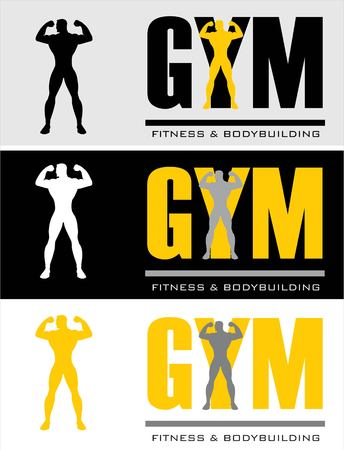 gym typography. Stock Vector - 97531135