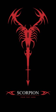 scorpion, red scorpion. Stock Vector - 97531139