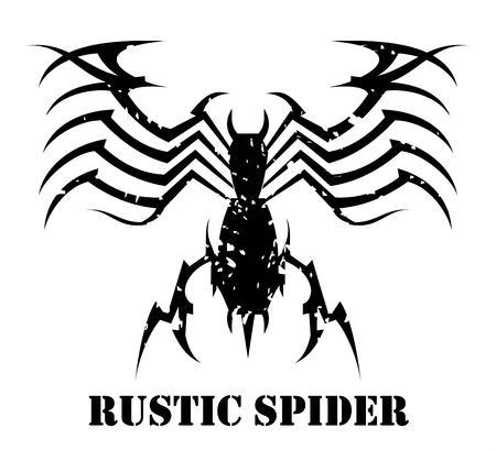 spider, grunge spider.