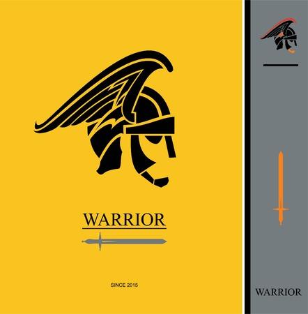 warrior head. Stock Vector - 97531143