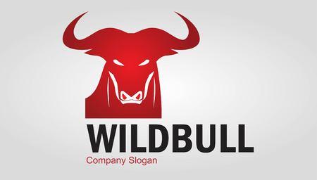 Wild bull in red Illustration