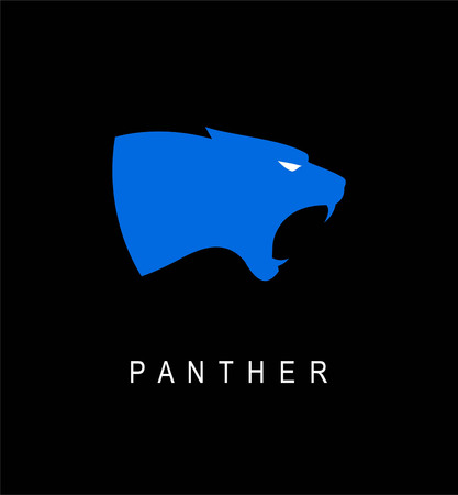 Blue panther head