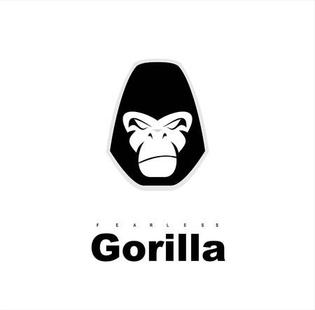 Gorilla.Gorilla face. Gorilla head. Gorilla logo. Simple flat of gorilla head.