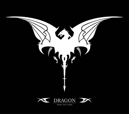 Dragon, spreading its wing icon