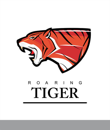 Elegant tiger head combine with text.