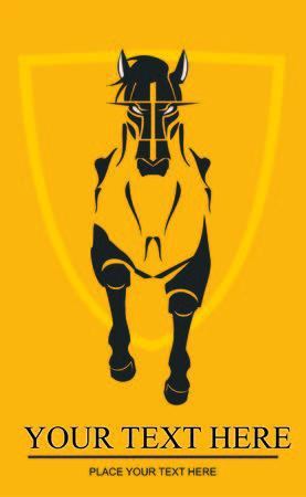 Big Horse on shield
