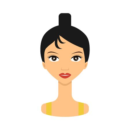 Woman face icon. Face young women . Beauty woman avatar.