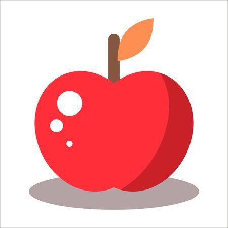 yummy: Yummy red apple fruit- stock illustration Illustration