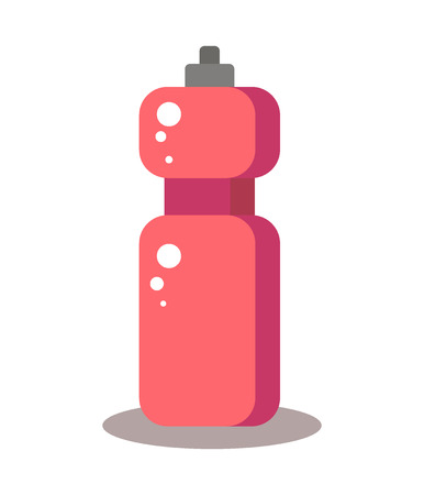 Illustration of pink bottle of water