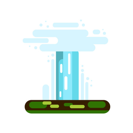Water geyser icon isolated on white background - vector illustration Illustration