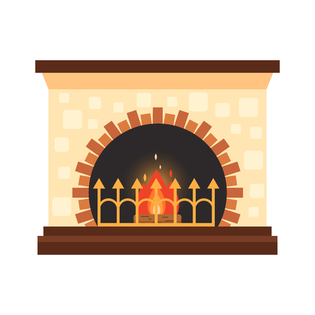 Colorful home fireplace